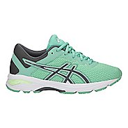 Kids ASICS GT-1000 6 Running Shoe - Mint/Grey 6.5Y