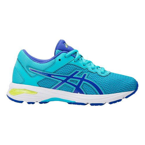 Kids ASICS GT-1000 6 Running Shoe - Aquarium/Purple 7Y
