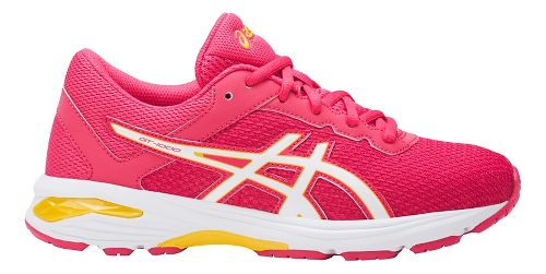 Kids ASICS GT-1000 6 Running Shoe - Pink/White 6.5Y