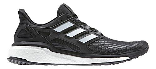 Mens adidas Energy Boost Running Shoe - Black/White 14