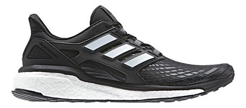 Mens adidas Energy Boost Running Shoe - Black/White 8