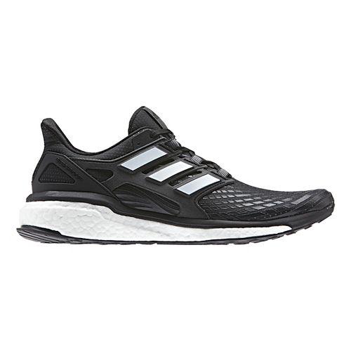 Mens adidas Energy Boost Running Shoe - Black/White 11.5