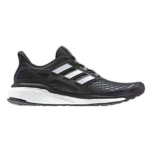 Mens adidas Energy Boost Running Shoe - Black/White 12