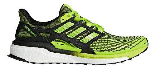 Mens adidas Energy Boost Running Shoe - Slime/Black 12.5