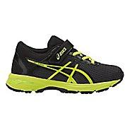 Kids ASICS GT-1000 6 Running Shoe - Black/Green 11C