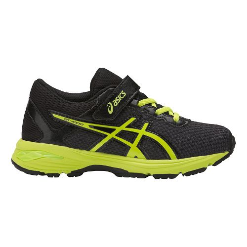 Kids ASICS GT-1000 6 Running Shoe - Black/Green 1.5Y
