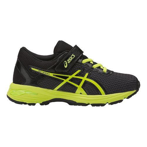 Kids ASICS GT-1000 6 Running Shoe - Black/Green 2.5Y