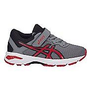 Kids ASICS GT-1000 6 Running Shoe - Grey/Red 2Y