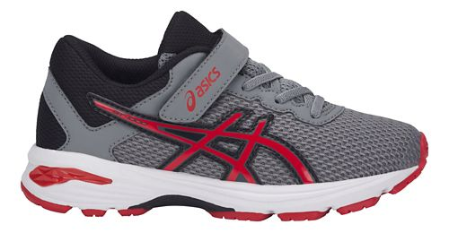 Kids ASICS GT-1000 6 Running Shoe - Grey/Red 13C