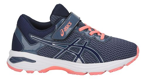 Kids ASICS GT-1000 6 Running Shoe - Smoke/Blue 13C