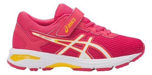 Kids ASICS GT-1000 6 Running Shoe - Pink/White 1.5Y
