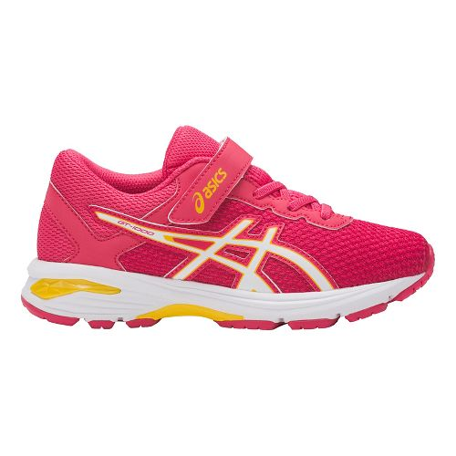 Kids ASICS GT-1000 6 Running Shoe - Pink/White 12C