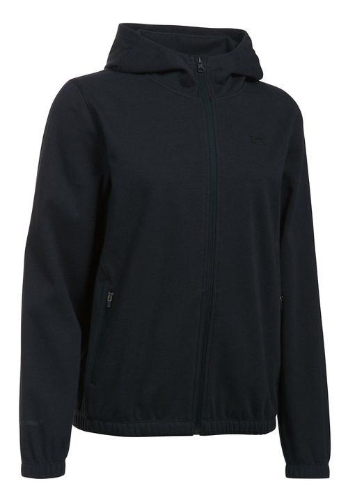 Womens Under Armour The Gym Jacket Half-Zips & Hoodies Technical Tops - Black/Black L