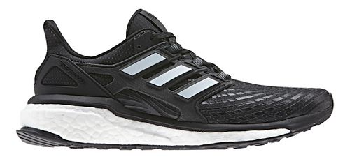 Womens adidas Energy Boost Running Shoe - Black/White 8.5