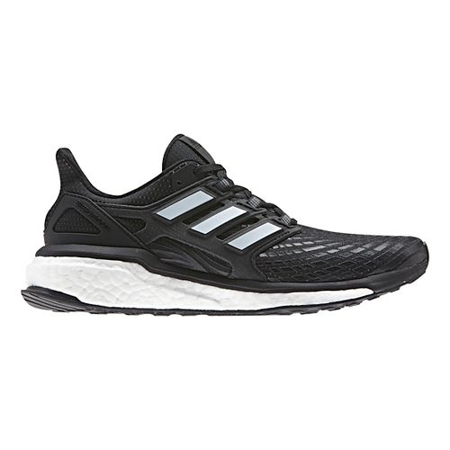 Womens adidas Energy Boost Running Shoe - Black/White 10.5