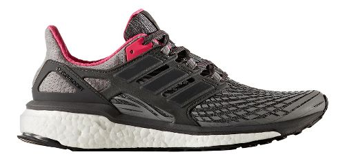 Womens adidas Energy Boost Running Shoe - Grey/Pink 10