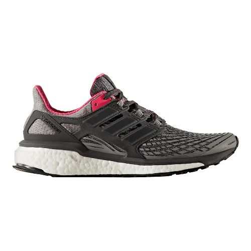 Womens adidas Energy Boost Running Shoe - Grey/Pink 6.5