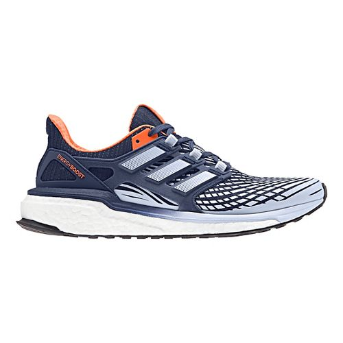 Womens adidas Energy Boost Running Shoe - Indigo/Orange 10