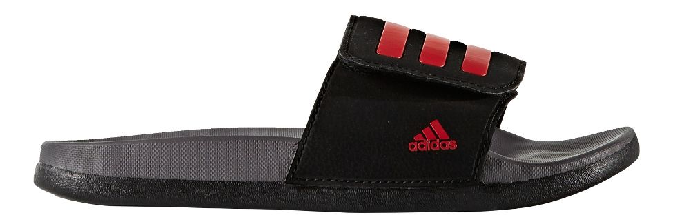 Kids' adidas® Adilette CF+ ADJ :: Building sandcastles and playing by the pool just got even more comfortable with these kids' slides. They feature a feather-light cloudfoam plus footbed for added cushion, along with an adjustable strap for ever-growing feet. Their sporty style is accented by a 3-Stripes upper.   This web exclusive item ships separately within the continental U.S only. Your item will ship direct from the vendor and arrive in 4-6 business days.