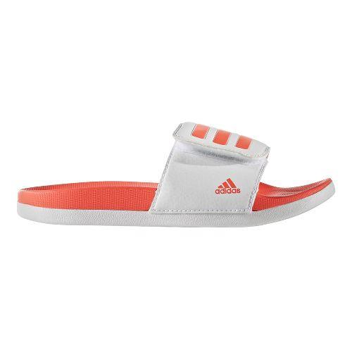adidas Adilette CF+ ADJ Sandals Shoe - White/Coral 4Y