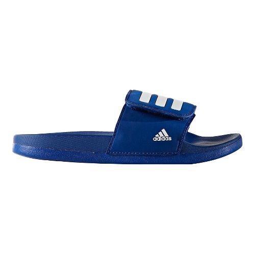 adidas Adilette CF+ ADJ Sandals Shoe - Royal/White 7Y