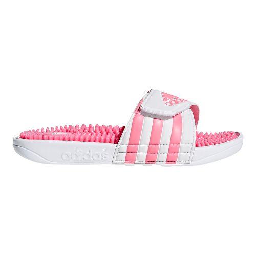 Kids adidas Adissage Sandals Shoe - White/White 5Y