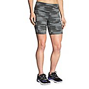 "Womens Brooks Greenlight Printed 7"" Tight Unlined Shorts"
