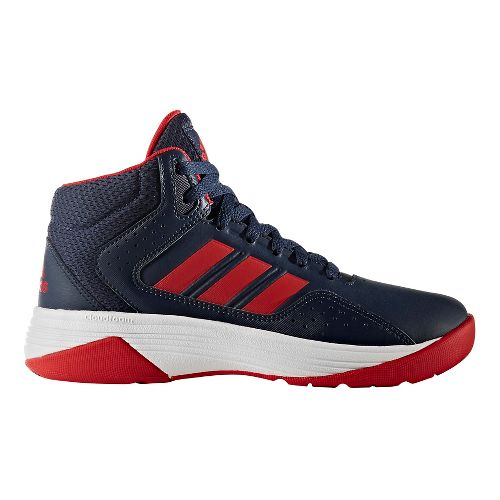 adidas Cloudfoam Ilation Mid Casual Shoe - Navy/Red 6.5Y