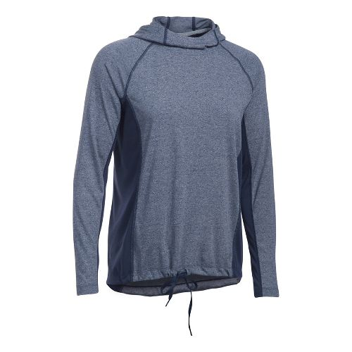 Womens Under Armour Threadborne Train Twist Half-Zips & Hoodies Technical Tops - Midnight Navy ...