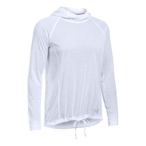 Womens Under Armour Threadborne Train Half-Zips & Hoodies Technical Tops - White/White XL