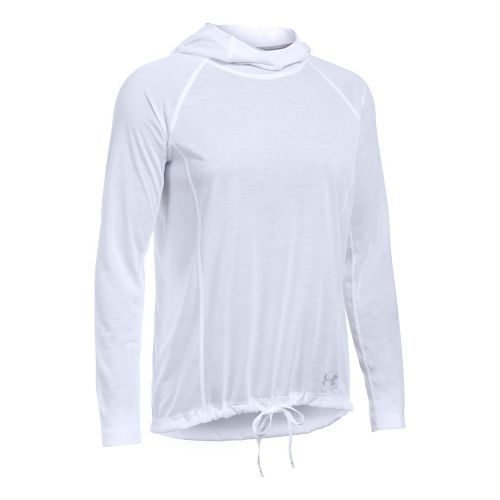 Womens Under Armour Threadborne Train Half-Zips & Hoodies Technical Tops - White/White XS