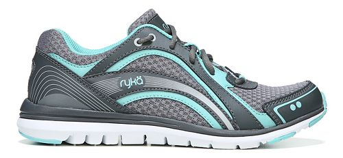 Womens Ryka Aries Walking Shoe - Grey/Aqua 6.5