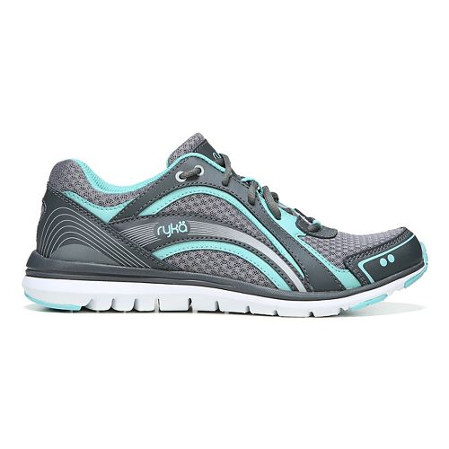 Womens Ryka Aries Walking Shoe - Grey/Aqua 10