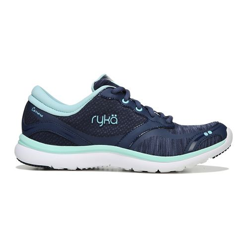 Womens Ryka Carrara Running Shoe - Navy/Mint 7