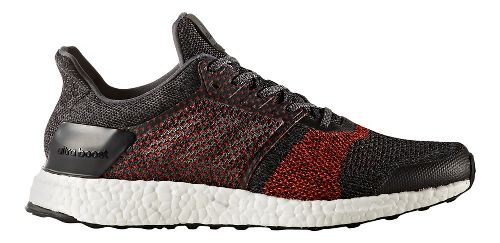 Mens adidas Ultra Boost ST Running Shoe - Black/Red 10.5