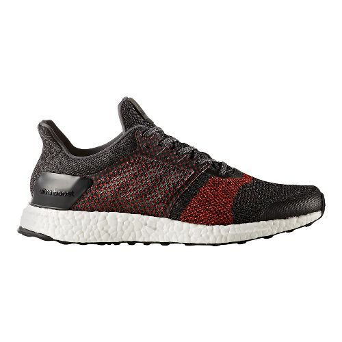 Mens adidas Ultra Boost ST Running Shoe - Black/Red 10