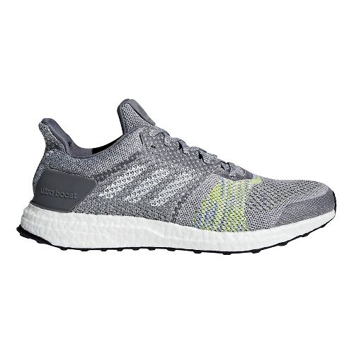 Mens adidas Ultra Boost ST Running Shoe - Grey/Slime 7.5
