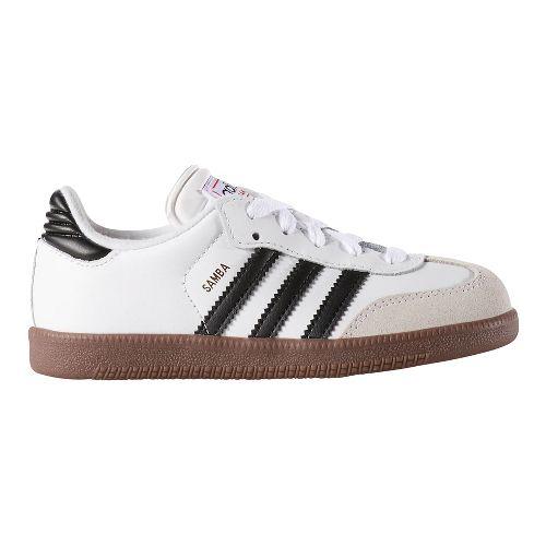 adidas Samba Classic Casual Shoe - White/Black 5.5Y