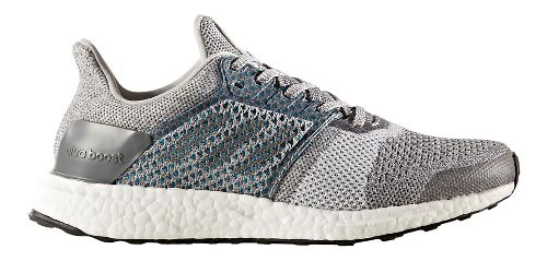 Womens adidas Ultra Boost ST Running Shoe - Grey/Silver 10.5