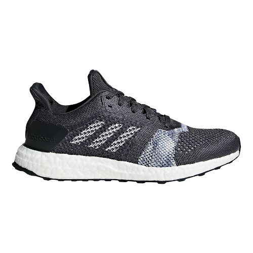 Womens adidas Ultra Boost ST Running Shoe - Carbon/White/Blue 9