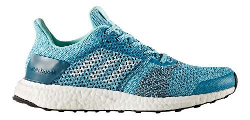 Womens adidas Ultra Boost ST Running Shoe - Aqua/Silver 6.5
