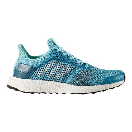 Womens adidas Ultra Boost ST Running Shoe - Aqua/Silver 6.5