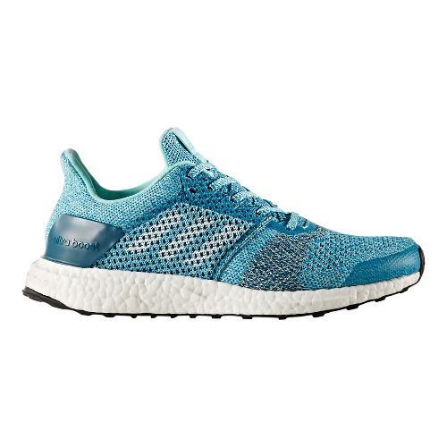 Womens adidas Ultra Boost ST Running Shoe - Aqua/Silver 7.5