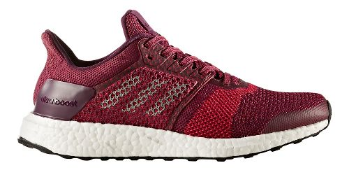 Womens adidas Ultra Boost ST Running Shoe - Mystery Ruby 10