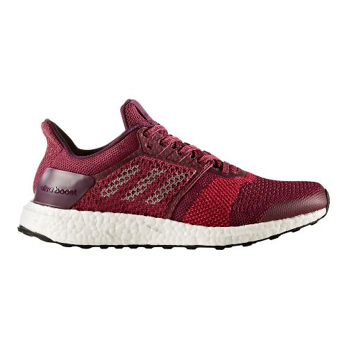 Womens adidas Ultra Boost ST Running Shoe - Mystery Ruby 7