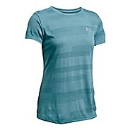 Womens Under Armour Threadborne Train Crew Neck Jacquard Short Sleeve Technical Tops