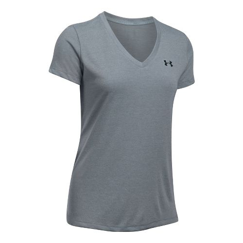 Womens Under Armour Threadborne Train V Neck Twist Short Sleeve Technical Tops - Absinthe Green ...