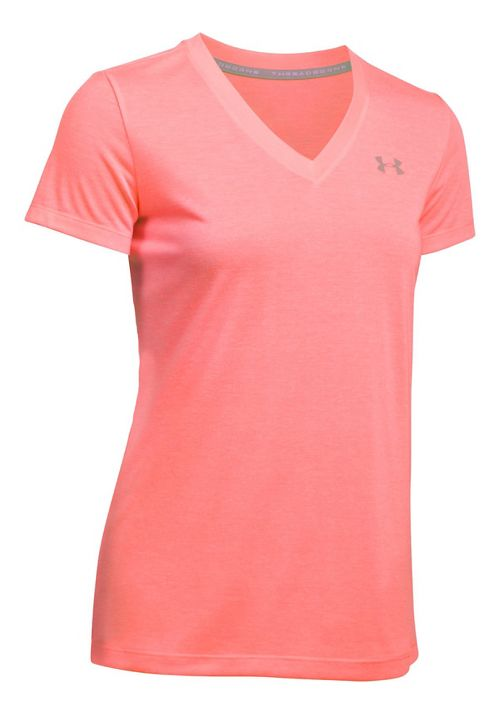 Womens Under Armour Threadborne Train V Neck Twist Short Sleeve Technical Tops - Cape Coral XS