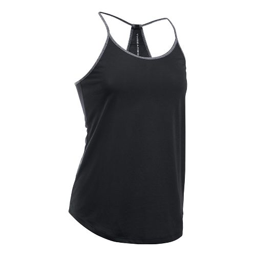 Womens Under Armour Threadborne Train Strap Sleeveless & Tank Tops Technical Tops - Black L ...