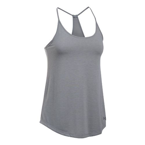 Womens Under Armour Threadborne Train Strap Sleeveless & Tank Tops Technical Tops - True Grey ...
